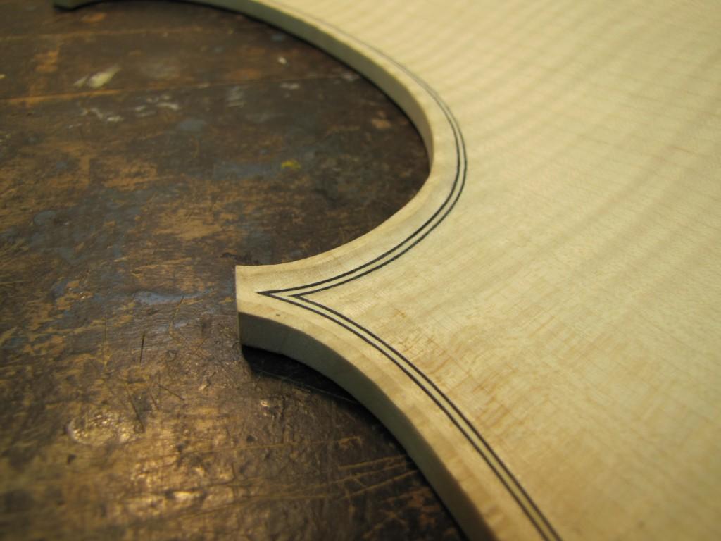 Cello Purfling Corner 2