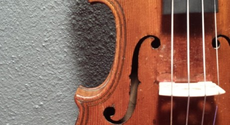 Here is a small violin restoration that I did for one of my clients a few months back. His father
